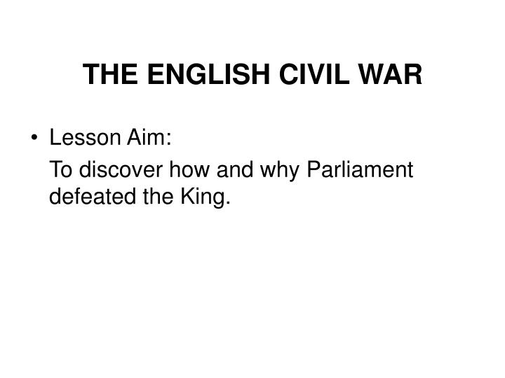 the english civil war n.