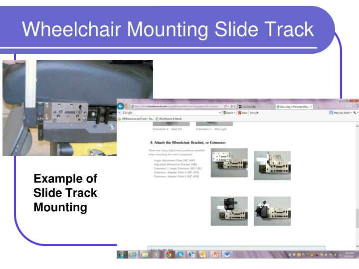 Example of Slide Track Mounting