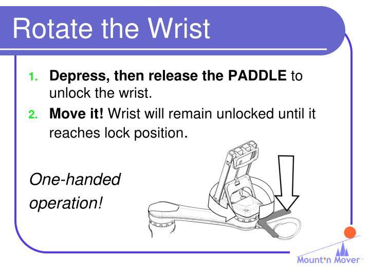 Rotate the Wrist