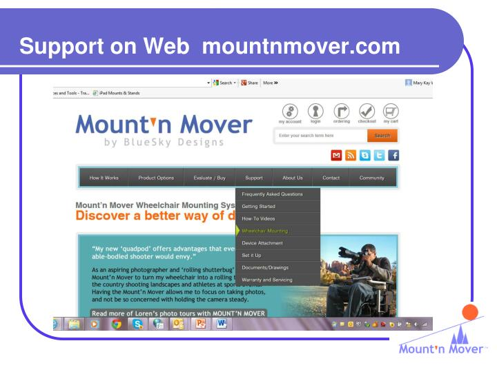 Support on Web  mountnmover.com