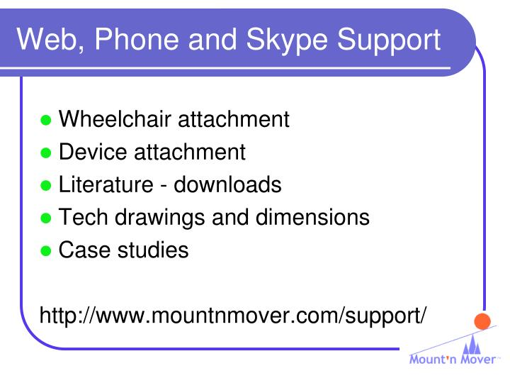 Web, Phone and Skype Support