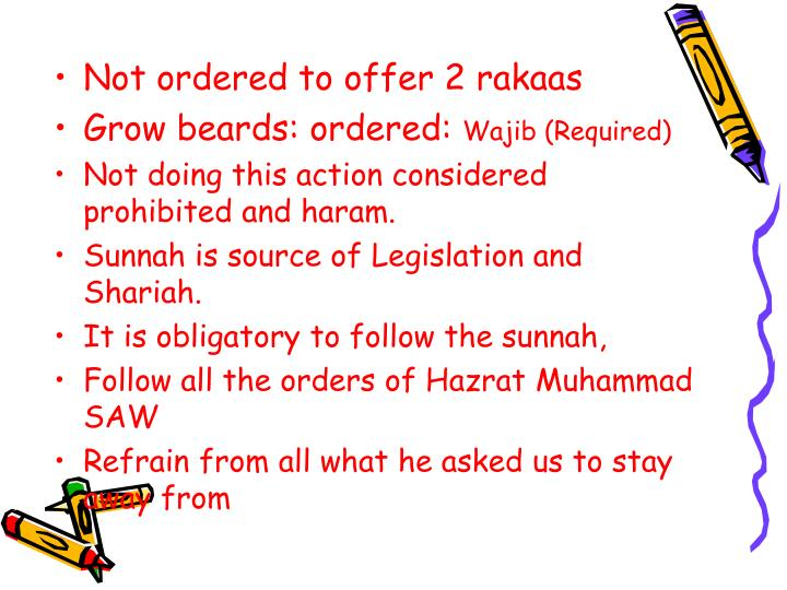 Not ordered to offer 2 rakaas