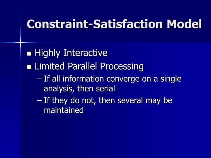 Constraint-Satisfaction Model