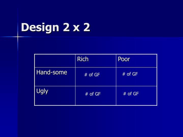 Design 2 x 2