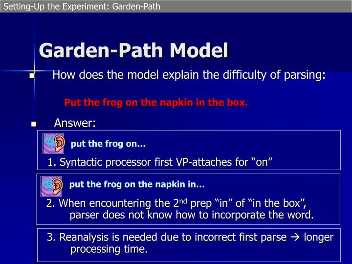 Setting-Up the Experiment: Garden-Path