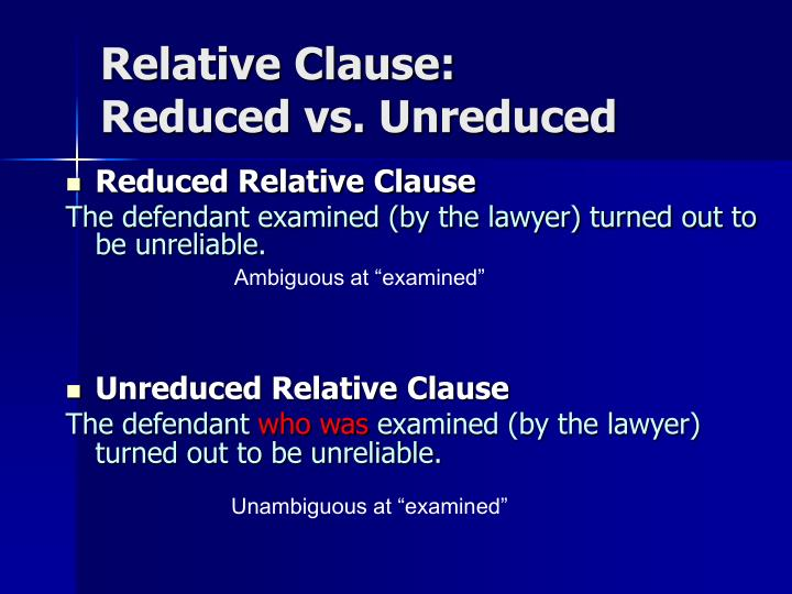 Relative Clause: