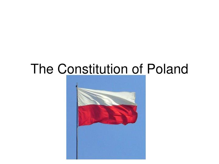the constitution of poland n.