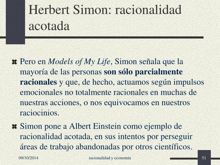 Herbert Simon: racionalidad acotada