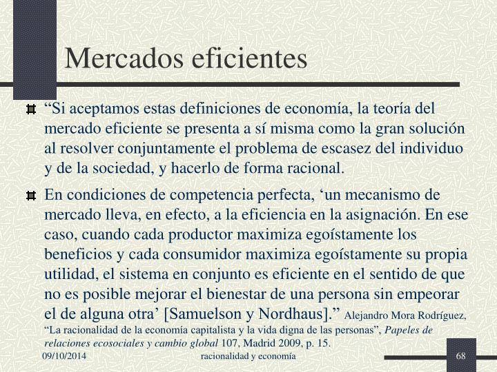 Mercados eficientes