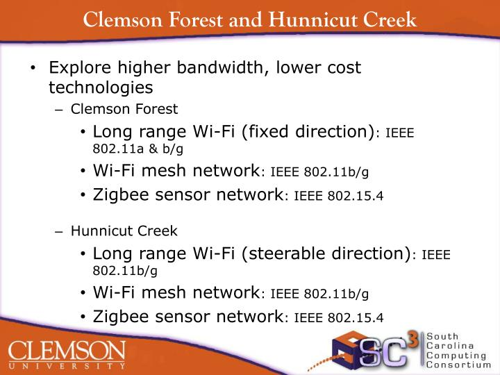 Clemson Forest and Hunnicut Creek