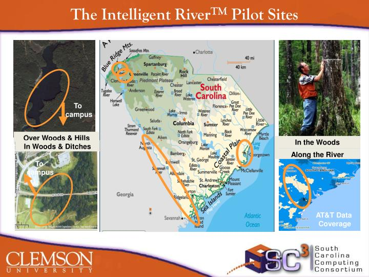 The intelligent river tm pilot sites