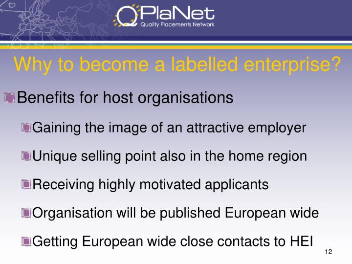 Why to become a labelled enterprise?