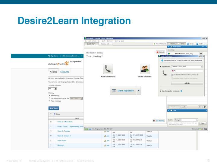 Desire2Learn Integration