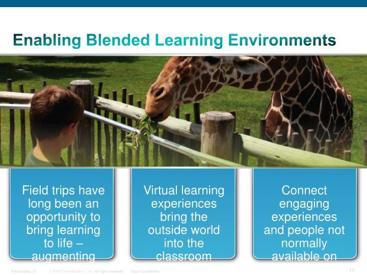 Enabling Blended Learning Environments