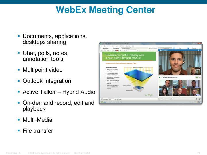 WebEx Meeting Center