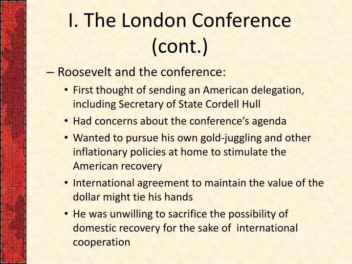I the london conference cont