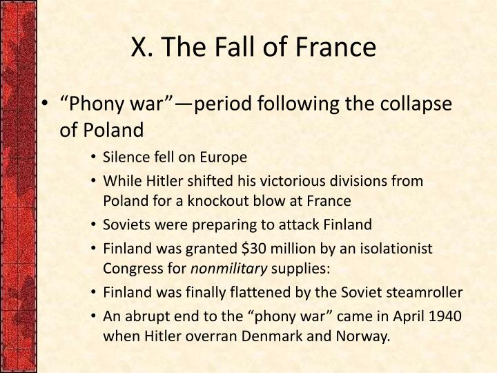X. The Fall of France