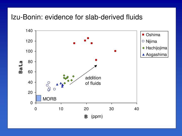 Izu-Bonin: evidence for slab-derived fluids