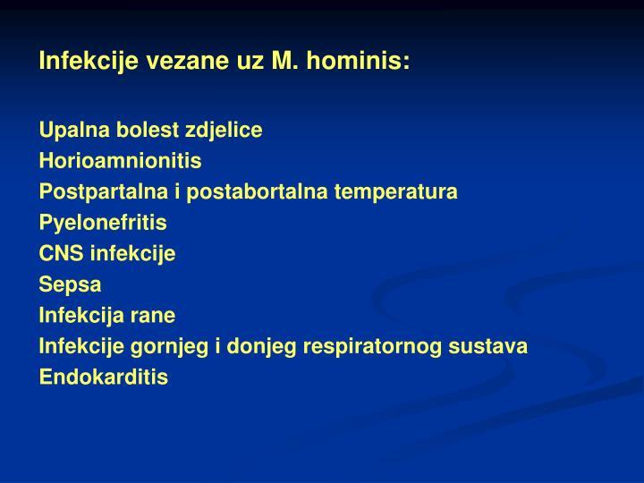 Infekcije vezane uz M. hominis: