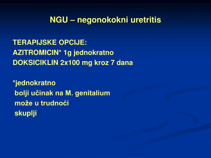 NGU – negonokokni uretritis