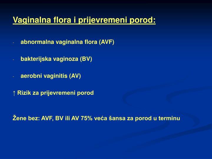Vaginalna flora i prijevremeni porod: