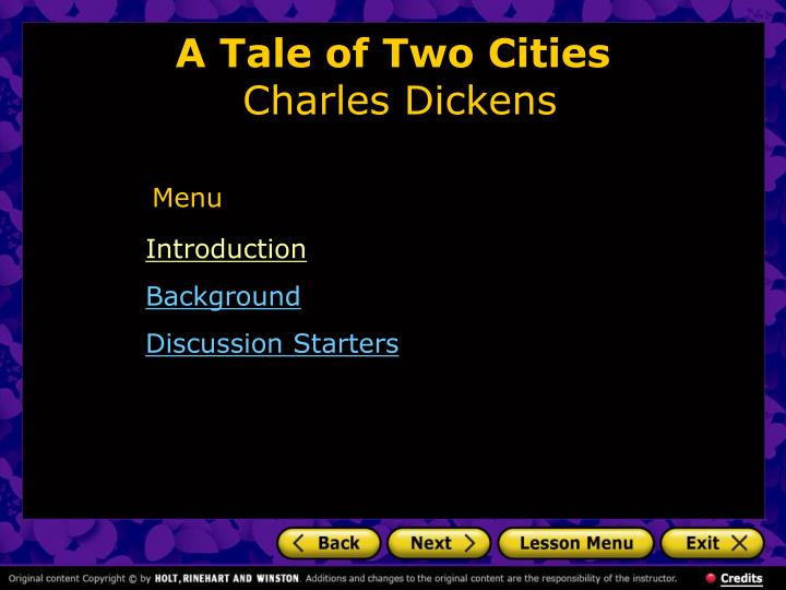 a tale of two cities charles dickens n.