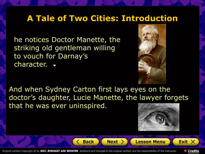 a focus on dr alexander manette in a tale of two cities