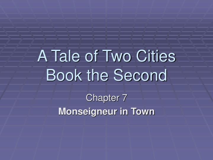 a tale of two cities book the second n.