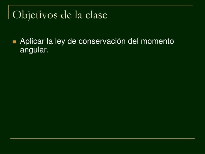Objetivos de la clase