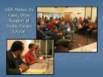 oea makes its case wins support at public forum 3 6 06