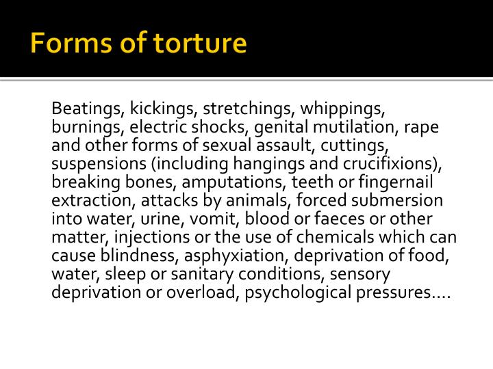 Forms of torture