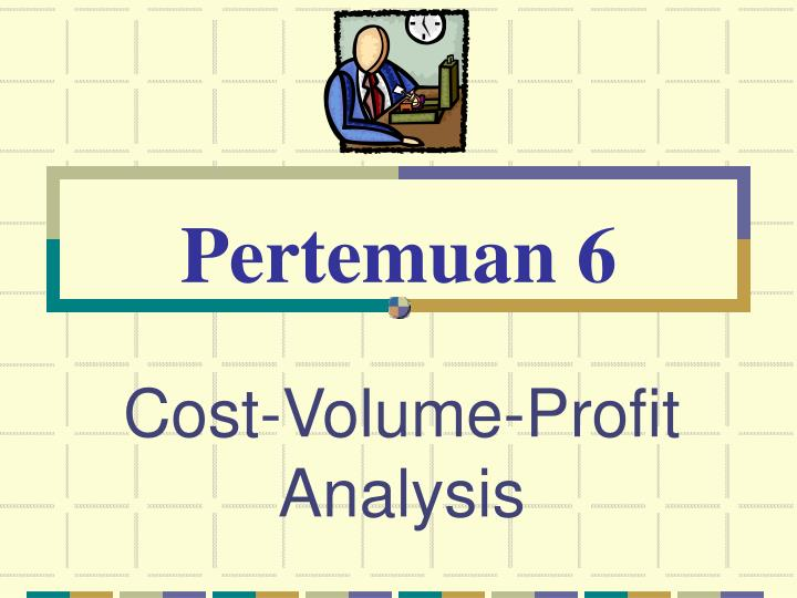cost volume profit analysis n.