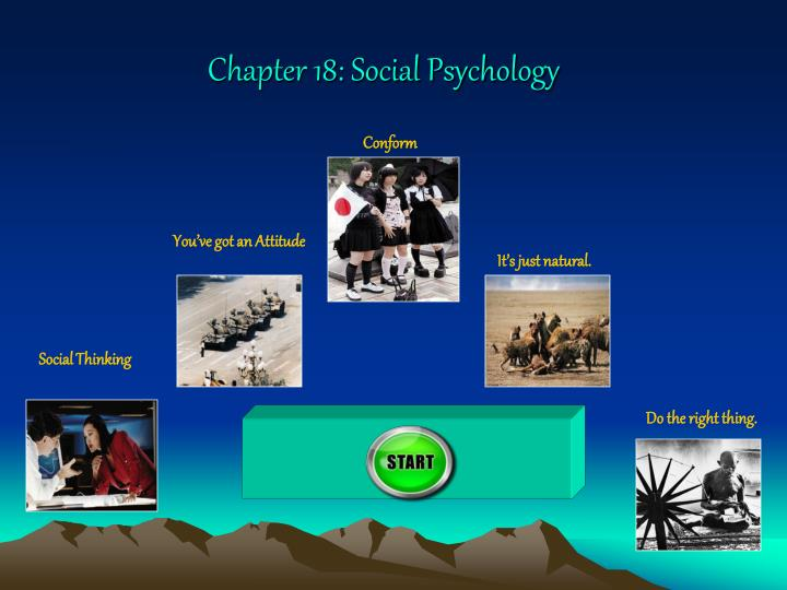 social psychology chapters 11 and 12 Chapter 12 - psychopathology (lesson plans) chapter 12 slides this website is solely for use by students, their parents and educators to use for lesson plans, ideas and resources related to ap psychology taught at gghs in ggusd.