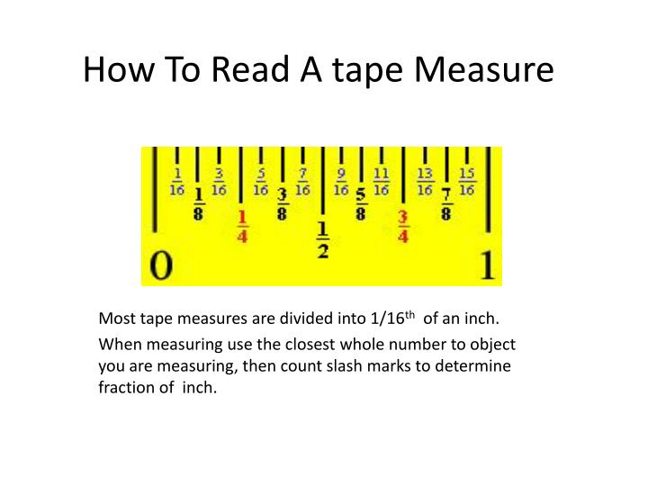 how to read a tape measure n.