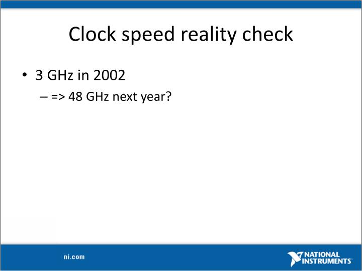 Clock speed reality check