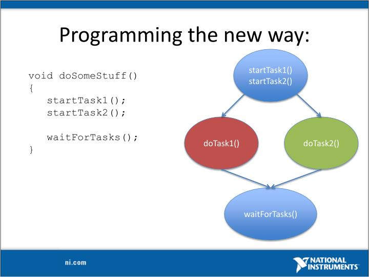 Programming the new way:
