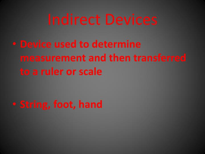 Indirect Devices