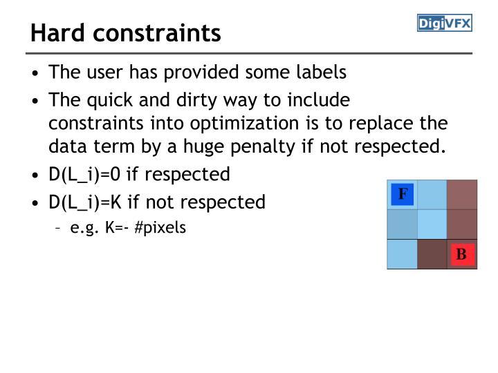 Hard constraints