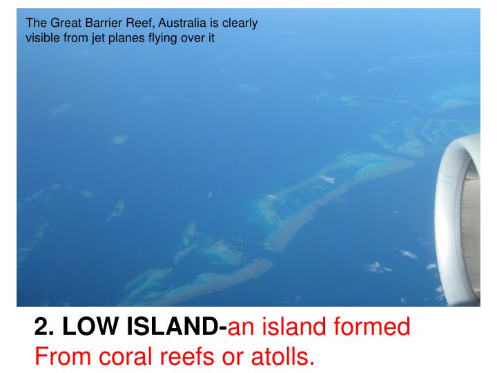 The Great Barrier Reef, Australia is clearly