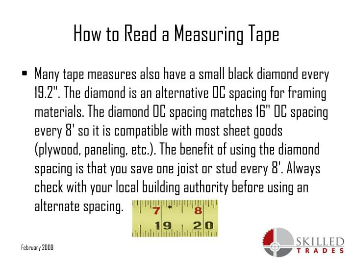 Ppt How To Read A Measuring Tape Powerpoint Presentation Id 5335145