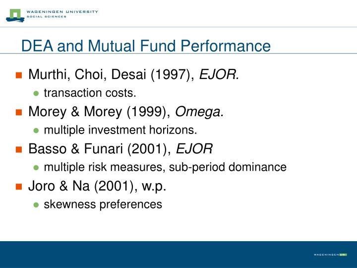 Dea and mutual fund performance