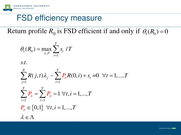 FSD efficiency measure