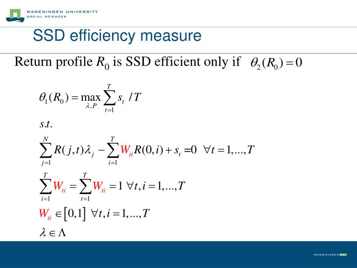 SSD efficiency measure