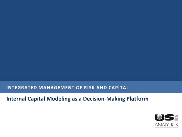 integrated management of risk and capital n.