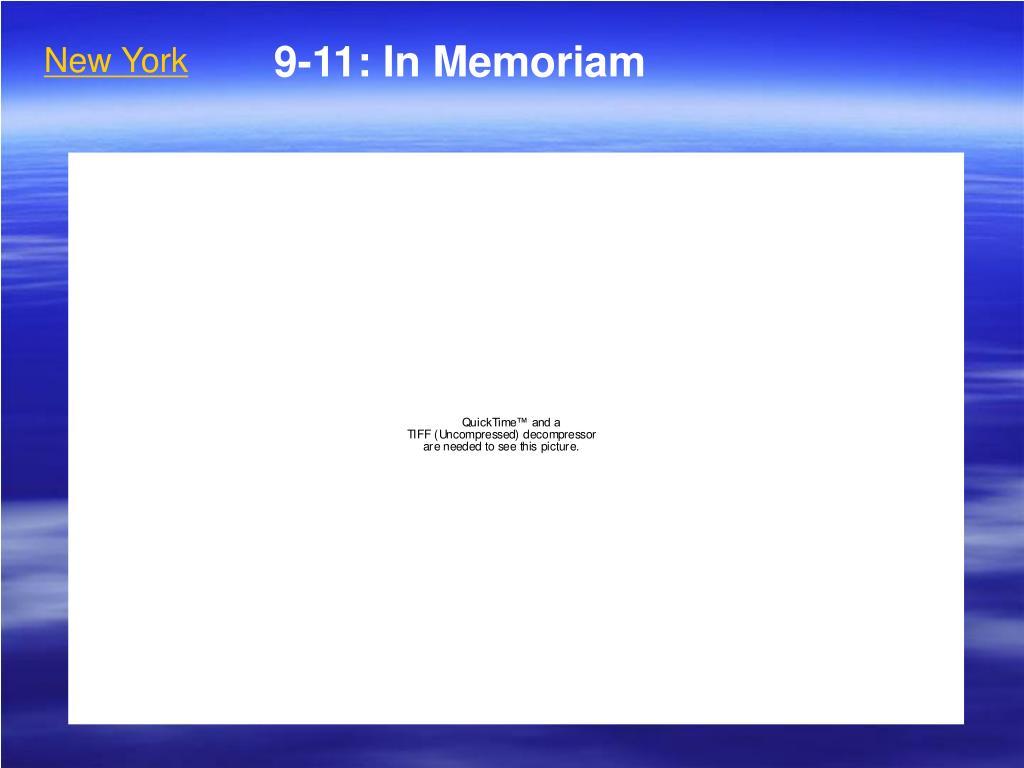 ppt 9 11 in memoriam powerpoint presentation id 5335294