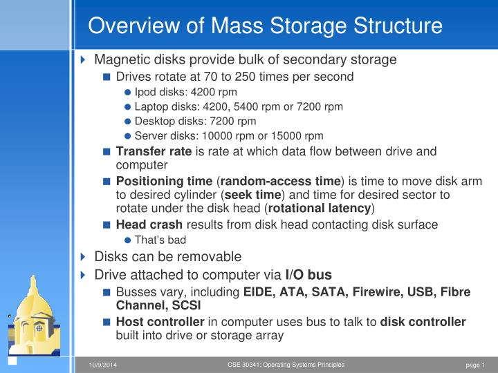 overview of mass storage structure n.