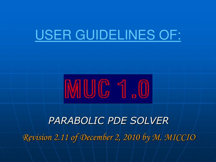 user guidelines of n.