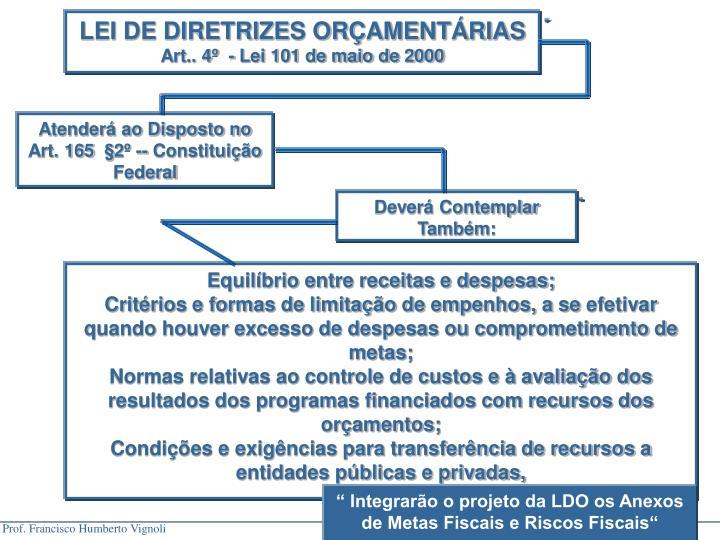 LEI DE DIRETRIZES ORÇAMENTÁRIAS