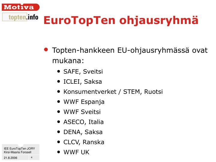 EuroTopTen ohjausryhmä