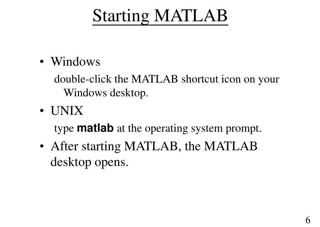 PPT - MATLAB Basics PowerPoint Presentation - ID:5335541